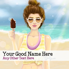 Summer Girl Drawing - Design your own names