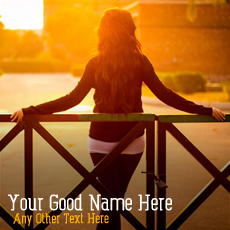 Girls name pictures - Sunset Alone Girl