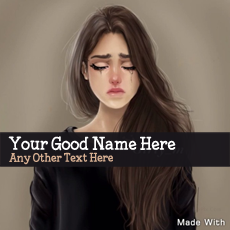Sweet Girl Crying - Design your own names