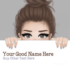 Sweet Girl Drawing - Design your own names