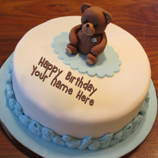 Birthday Cakes name pictures - Teddy Bear Birthday Cake
