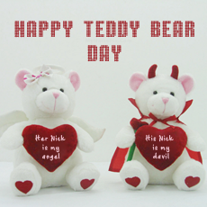 Teddy Bear Day 2015 - Design your own names