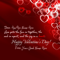 Valentine Day Card - Design your own names