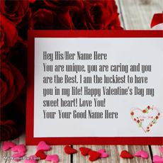 Valentine Day Wish Card - Design your own names
