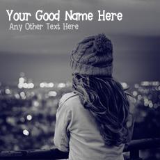 Winter Sad Girl - Design your own names