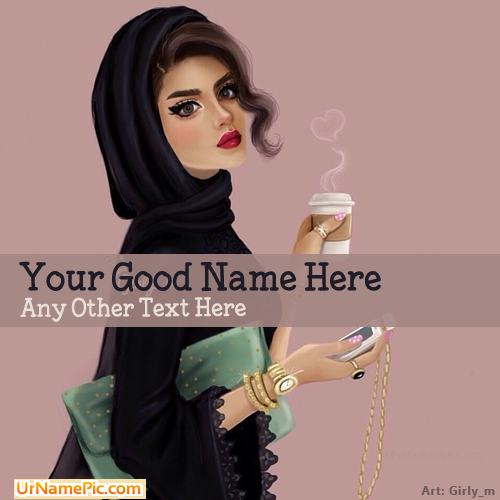Design your own names of Arab Girl Drawing
