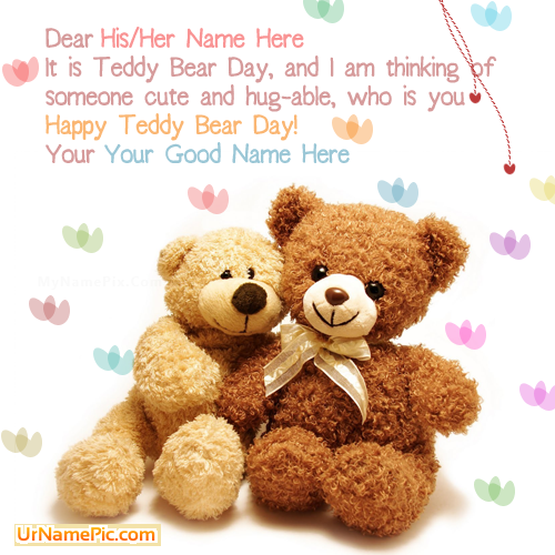 Design your own names of Best Teddy Bear Day Wish