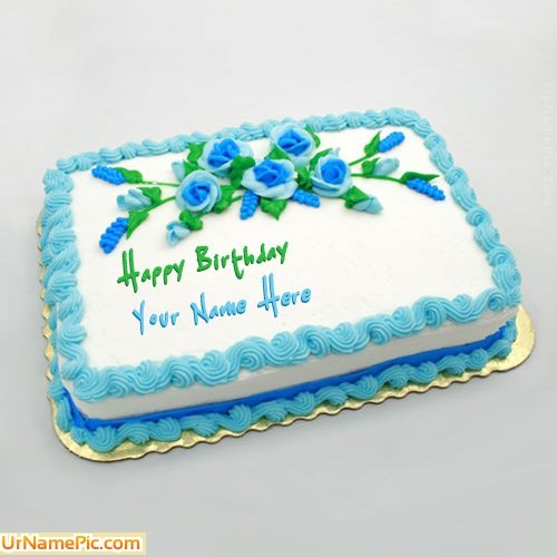 Birthday Images With Flowers And Cake With Names : Write name on Birthday Flowers Cake - happy birthday cake ...