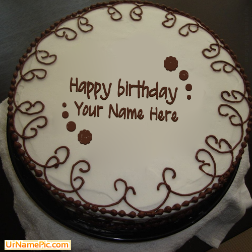 Design your own names of Border Chocolate Cake