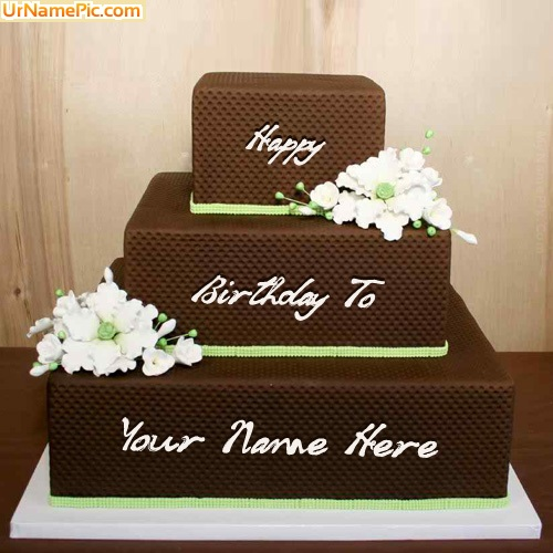 Write name on Chocolate Shaped Birthday Cake - happy ...