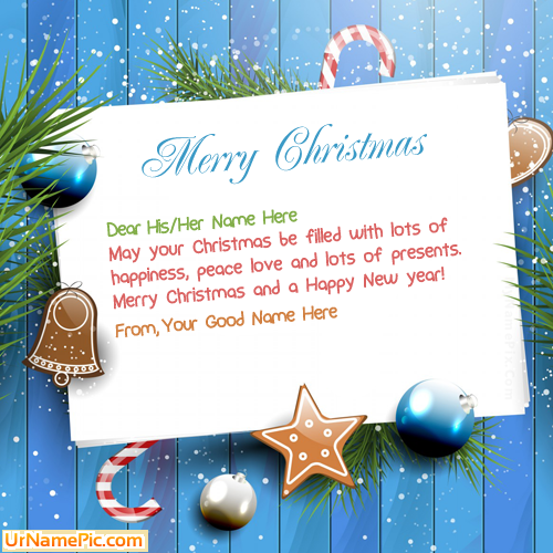 Design your own names of Christmas Wishes