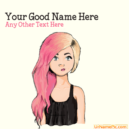Design your own names of Colorful Hair Girl