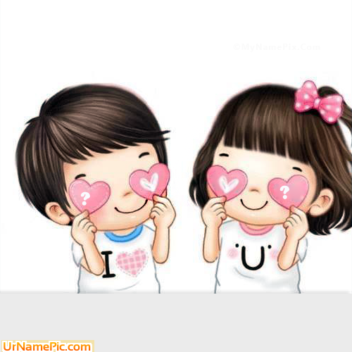 Design your own names of Cute Couple Hearts