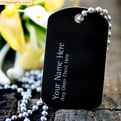 Design your own names of Dog Tag Necklace