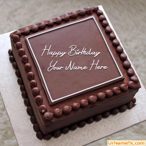 Images Of Square Birthday Cake : Write name on Elegant Square Cake - happy birthday cake ...