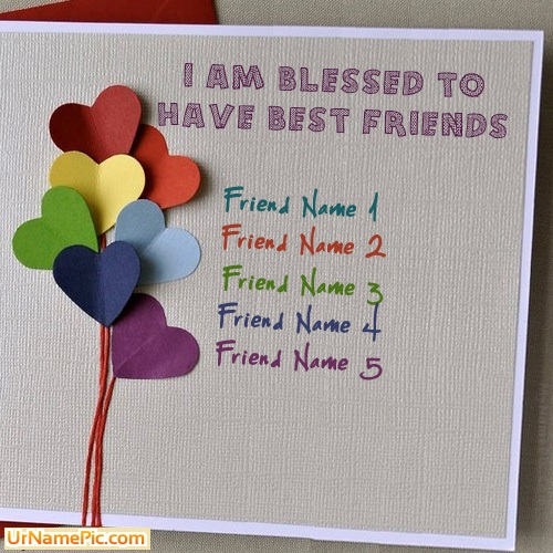 Design your own names of Friendship Card