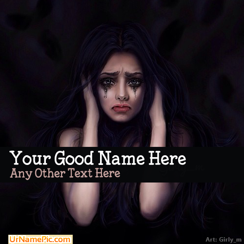 Design your own names of Girl Crying Drawing