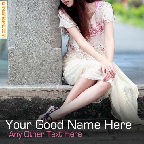 Design your own names of Girl Waiting