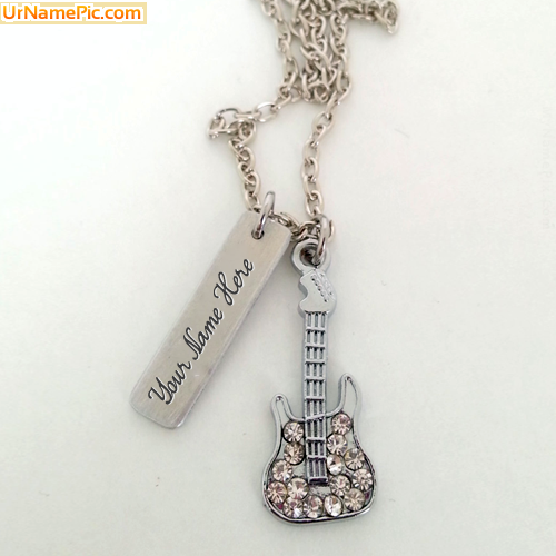 Design your own names of Guitar Plate Necklace