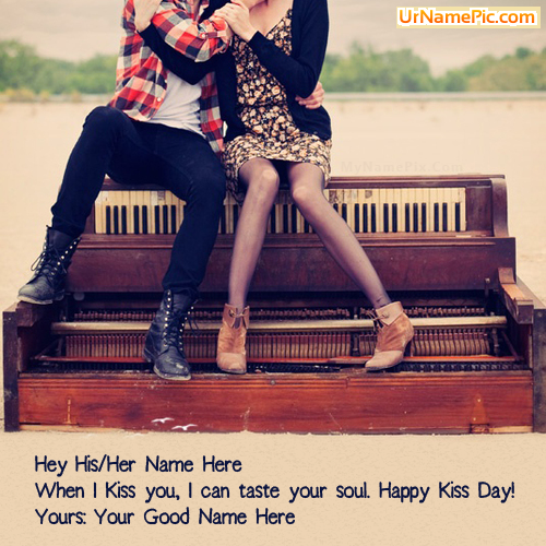 Design your own names of Happy Kiss Day Couple