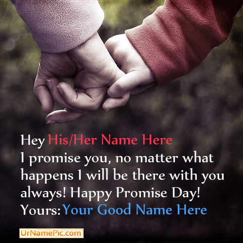 happy promise day couple name picture happy promise day name generator