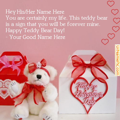Design your own names of Happy Teddy Bear Day