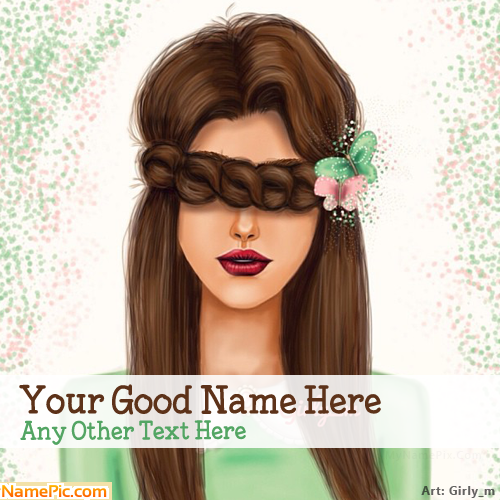 Design your own names of Hiding Eyes Drawing