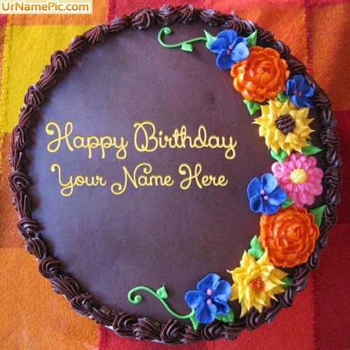 Design your own names of Awesome Flower Birthday Cake