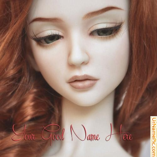 Design your own names of Beautiful Redhead Doll