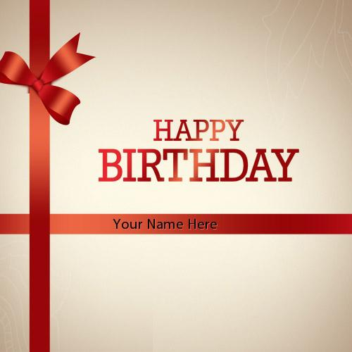 Design your own names of Birthday Gift