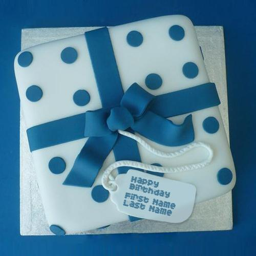 Design your own names of Blue Birthday Cake