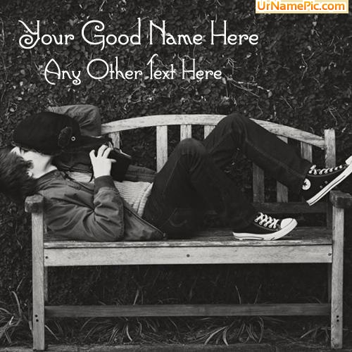 Design your own names of Boy Waiting