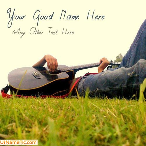 Design your own names of Boy With Guitar