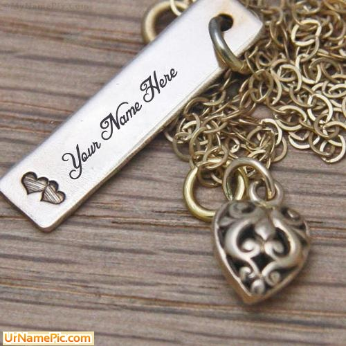 Design your own names of Bronze Tag Necklace
