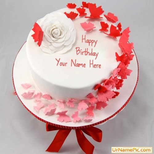 Birthday Cake Images With Name Sumit : Write name on Butterflies Birthday Cake - happy birthday ...