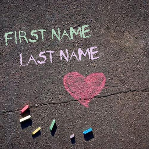 Design your own names of Chalk Writing