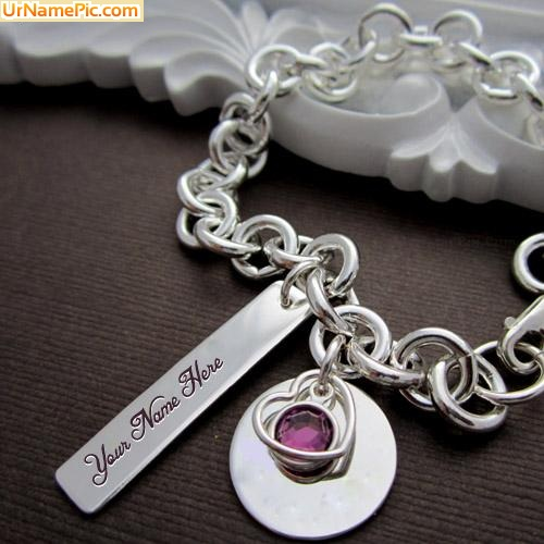 Design your own names of Charm Heart Necklace