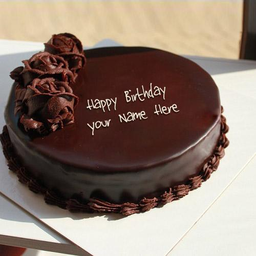 Write name on Chocolate Cake for Birthday happy birthday cake with
