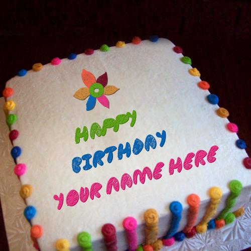 Design your own names of Colorful Birthday Cake