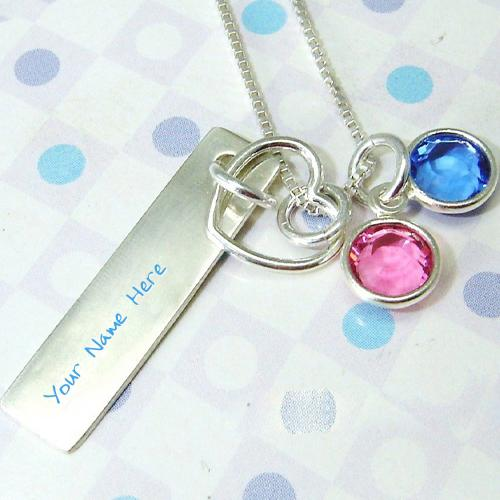 Design your own names of Colorful Pendant