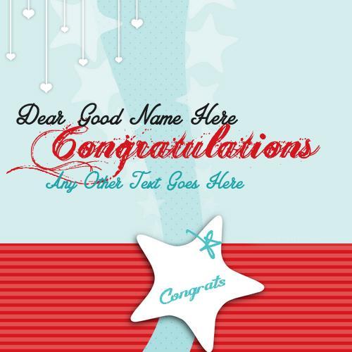Design your own names of Congratulations Dear