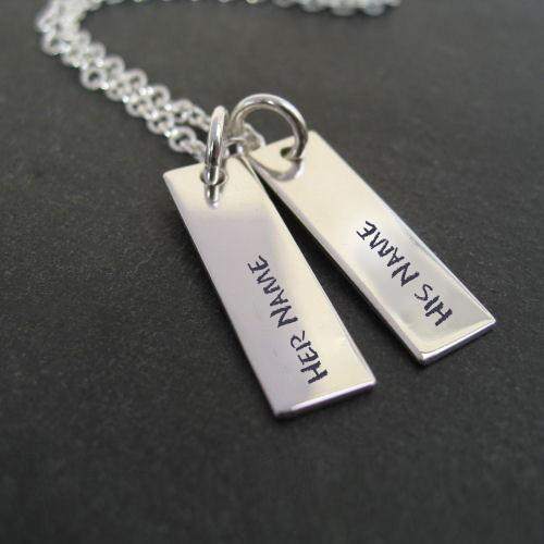 Design your own names of Couple Names Silver Pendant