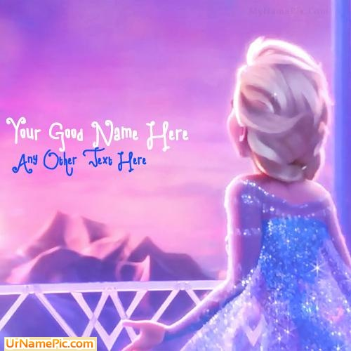 Design your own names of Cute Elsa Frozen