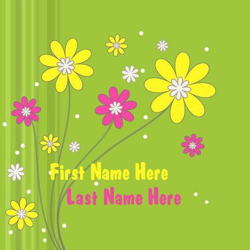 Design your own names of Cute Flowers