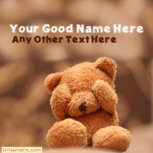 Design your own names of Cute Teddy