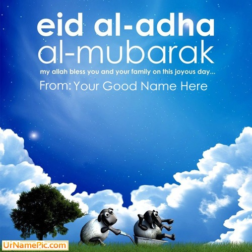 Design your own names of Eid ul Adha Wish