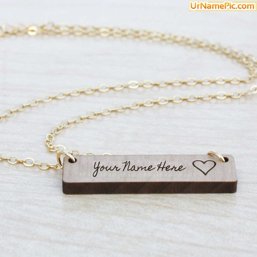 Design your own names of Engraved Bar Necklace