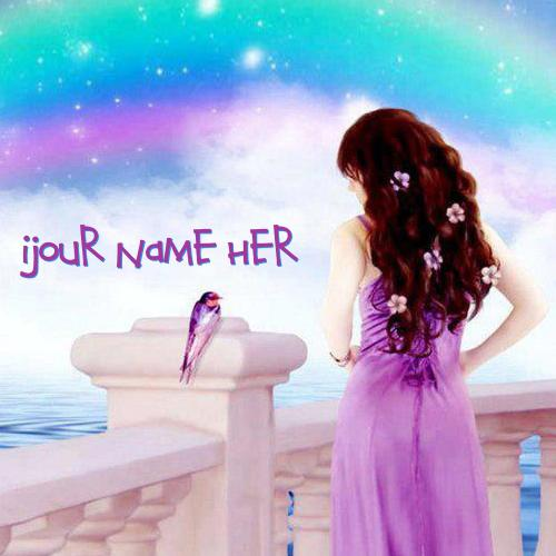 Design your own names of Fantasy Girl Colorful