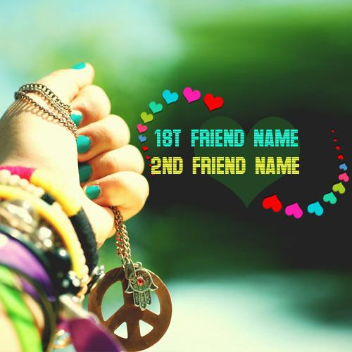 Design your own names of Friendship Hearts and Bands