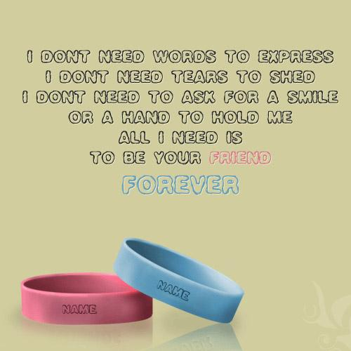Design your own names of Friendship Nick Name Band
